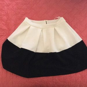 Francesca's Black/White Skirt